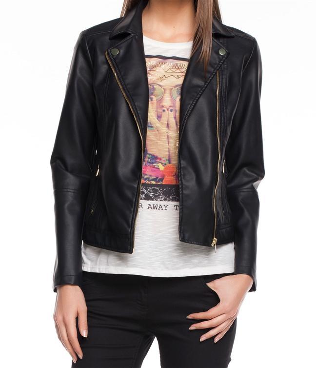 Trend modeli ile şık bir tasarıma sahip, rahat kalıbı ile üzerinizde fit bir görünüm sağlayacak siyah deri ceket