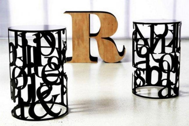 Tipografik ev aksesuarı tasarımları - 14