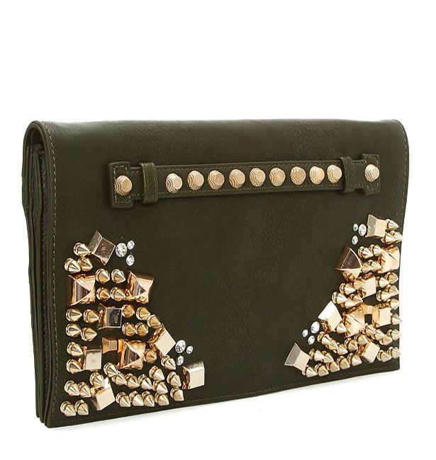 Haki yeşili el çantası