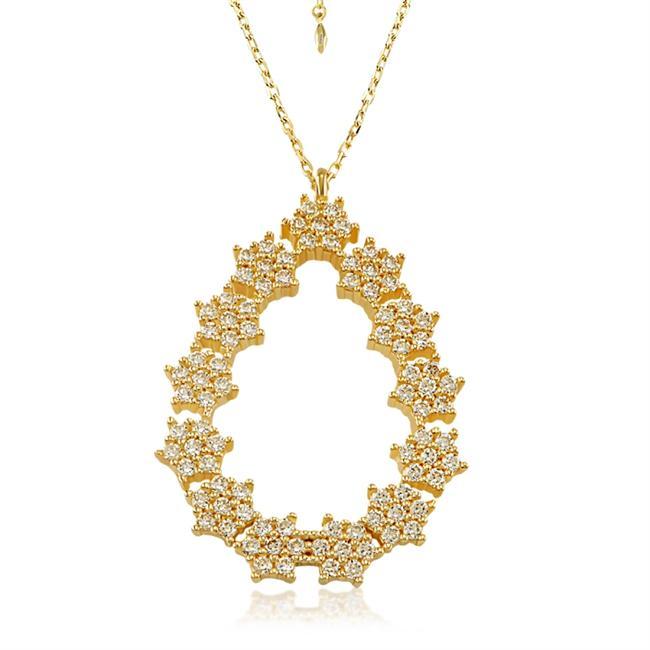 MutluGold Taşlı Altın Kolye: 509 TL