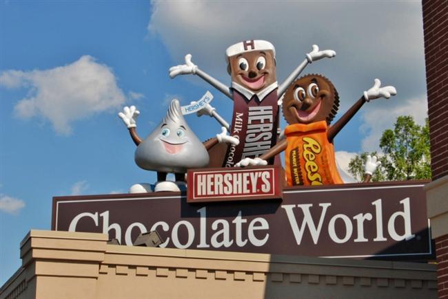 Pennsylvania  Hershey çikolatasını, çikolata meraklıları arasında duymayan pek kalmamıştır. Bu yüzden fazla uzatmıyoruz. Hershey çikolataları Amerika Pennsylvania'da üretiliyor.
