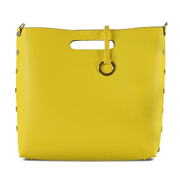 Elbisenizle uyum sağlayacak sarı günlük çanta