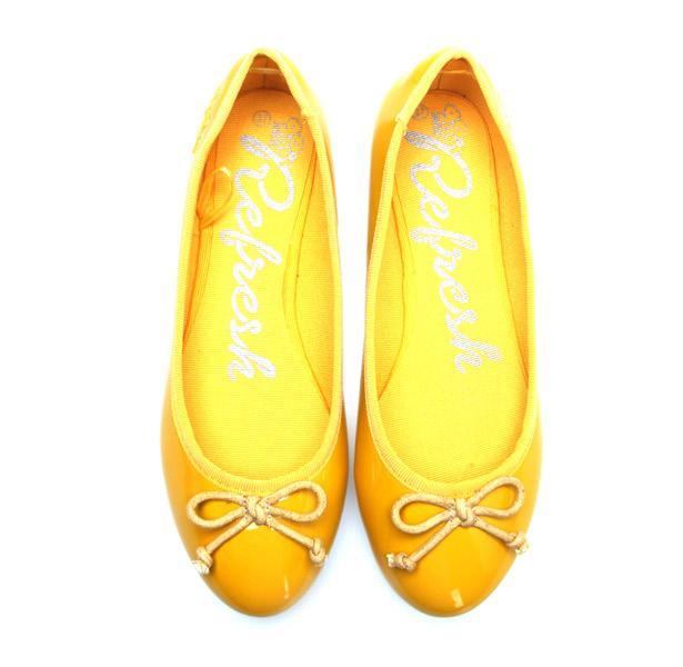 Hem elbise hem de pantolonlarınızla rahatlıkla kullanabileceğiniz sarı babet