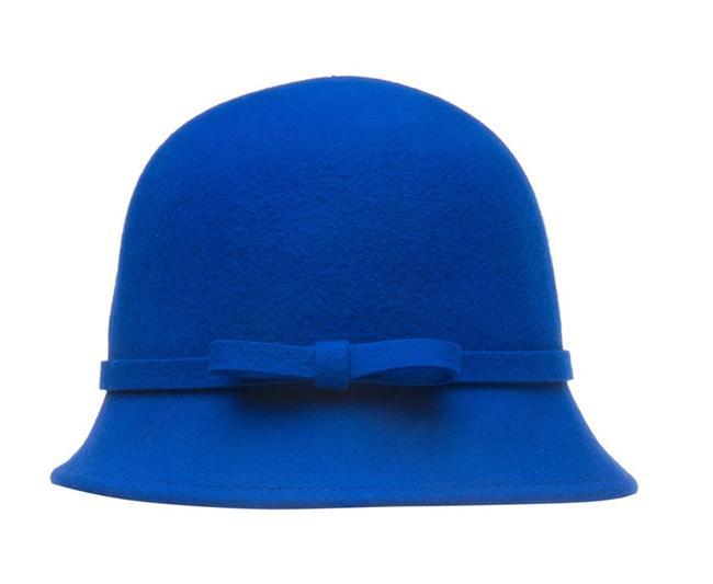 Fiyonk detaylı saks mavisi şapka