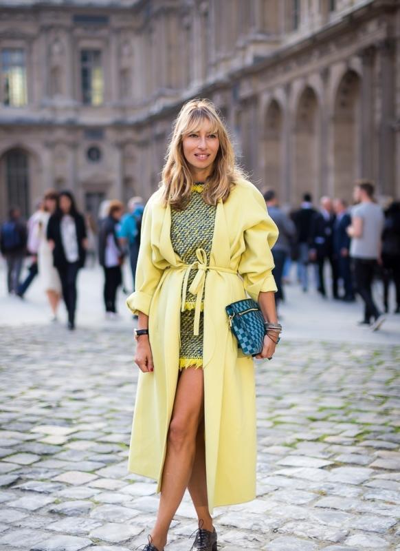 Sarı uzun palto