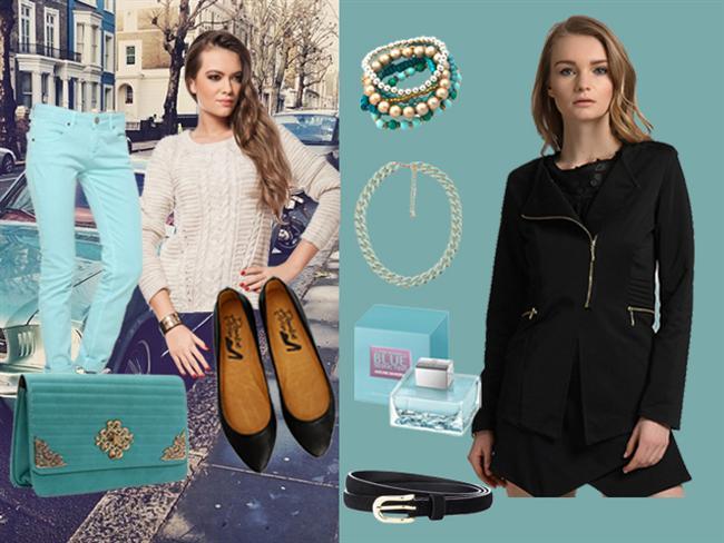 Haftanın stili turkuaz mavisi! Mahmure bu hafta sizin için, ilkbaharın temsilcisi turkuaz renginden bir pantolon kombini hazırladı. Turkuaz pantolon kombinlerinde krem, siyah ya da beyaz tonlarını kullanmanızı tavsiye ediyoruz. Nisan ayının gelmesiyle kıyafetlerde bolca göreceğimiz turkuaz rengini gündüz pantolon gece de etek ya da elbise kombinlerinde tercih edebilirsiniz.  Galerimiz içerisinde yer alan ürünlere tek tek göz atabilir, dilerseniz satın da alabilirsiniz...