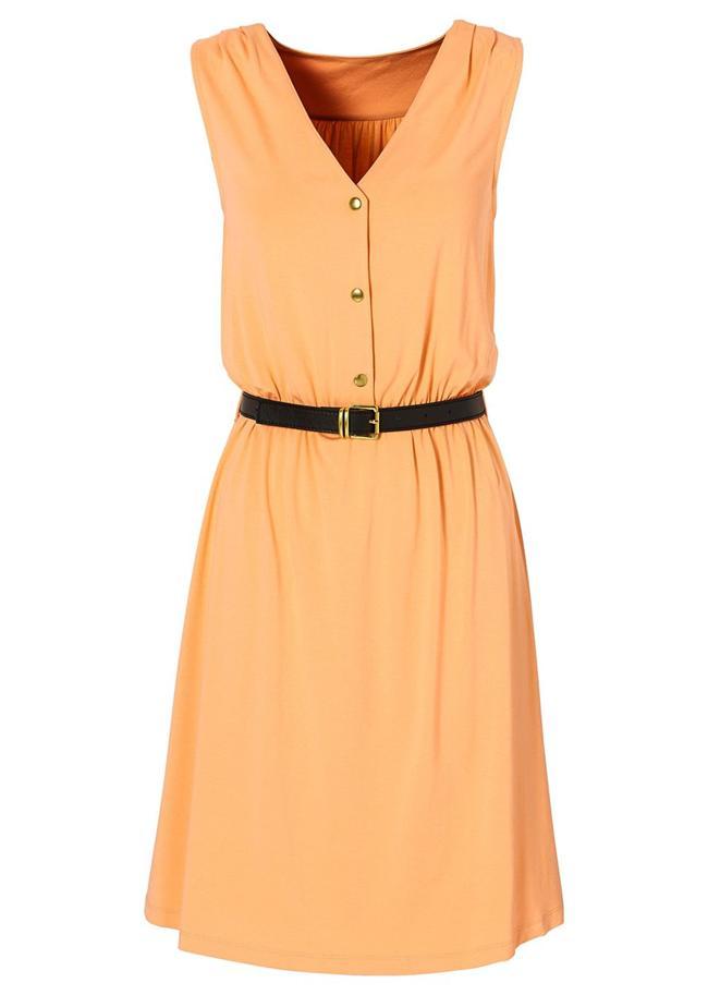 Portakal rengi elbise 89,99TL