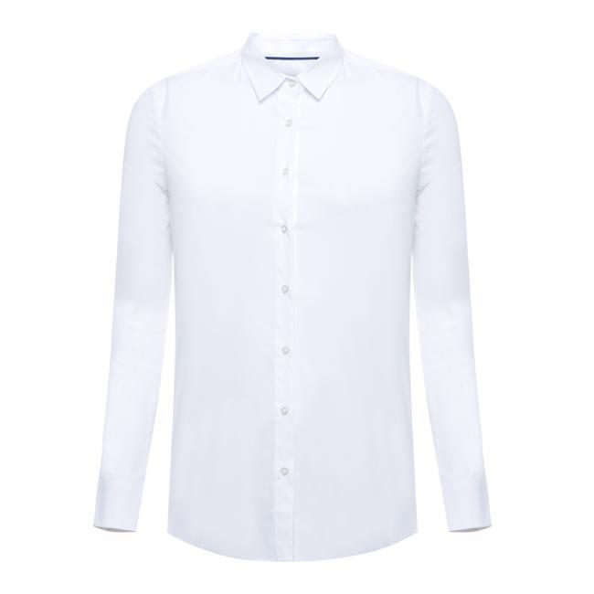Uzun kol klasik beyaz gömlek