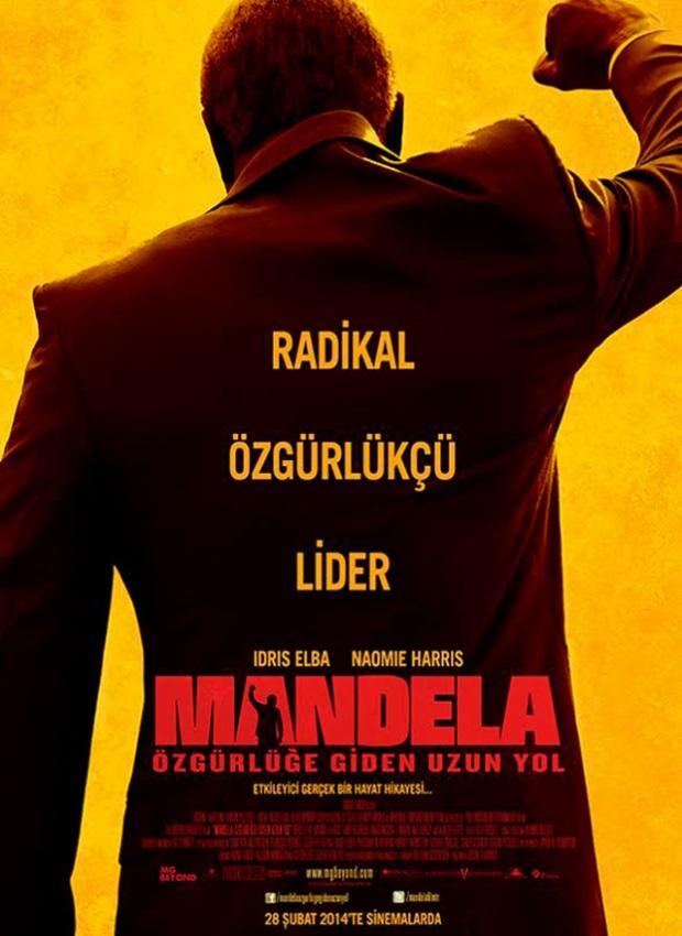 Mandela: Özgürlüğe Giden Uzun Yol (Mandela: Long Walk to Freedom)  Dünyaya ilham vermiş, bir liderin etkileyici gerçek hayat hikayesi. Filmde Nelson Mandela´yı Idris Elba oynuyor.   5 Aralık 2013 tarihinde hayata gözlerini yuman, Güney Afrika´nın efsaneleşen özgürlük savunucusu Nelson Mandela´nın yaşamını kronolojik biçimde takip eden film, Mandela´nın bir taşra kasabasındaki çocukluğundan başlayarak, Güney Afrika´nın demokratik seçimlerle iş başına gelen ilk başkanı olmasına kadar geçen sürecini sinemaya taşıyor.   Mandela, henüz genç bir hukuk öğrencisiyken, politikaya duyduğu büyük ilginin sonucunda Güney Afrika´da demokrasinin en önde gelen savaşçılarından biri olur. 1964 yılında çarptırıldığı hapis cezasıyla birlikte kontrol altına alınsa da 27 yılın ardından özgürlüğüne kavuştuğunda mücadelesine devam eder. 1993 yılında Nobel Barış Ödülü´ne layık görülen Mandela, bir yıl sonra ülkenin ilk siyahi başkanı olarak göreve gelir.  Vizyon Tarihi: 04 Nisan 2014