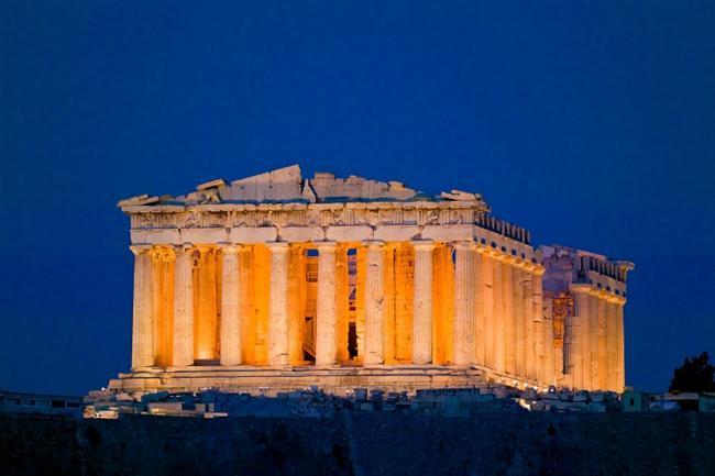 """Atina'daki Lycabettus Dağı'ndan """"Parthenon"""" tapınağı"""