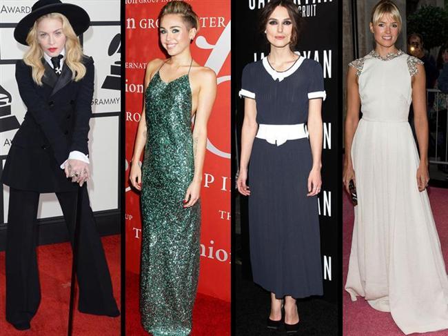 En Kötü Giyinenler  Madonna, Miley Cyrus, Keira Knightley ve Cressida Bonas eğlence dünyasındaki büyük şöhretlerine rağmen en kötü giyinen kadınlar seçildi.