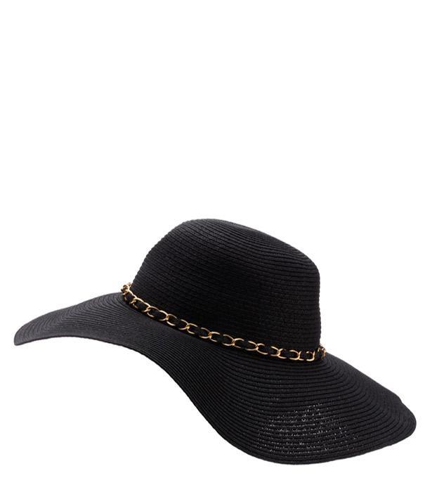 Zincirli hasır şapka