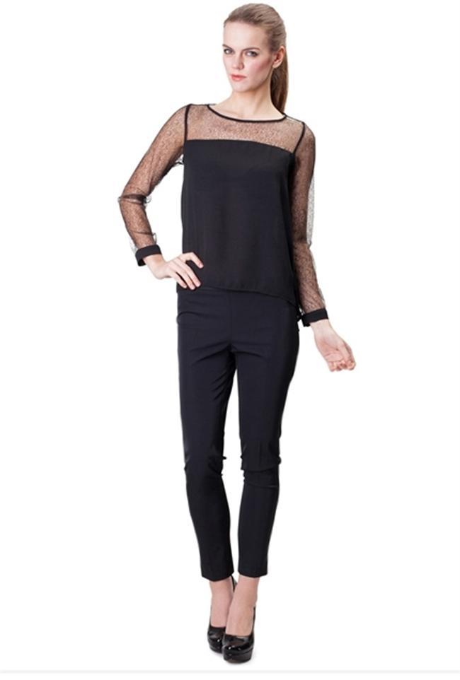 Siyah bluz - pantolon