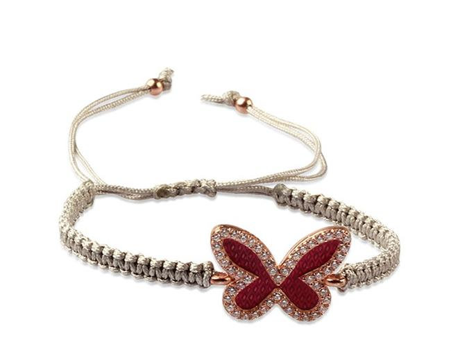 Kelebek motifli gümüş bileklik