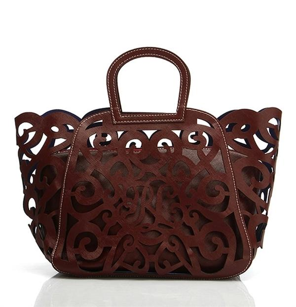 Kahverengi el çantası