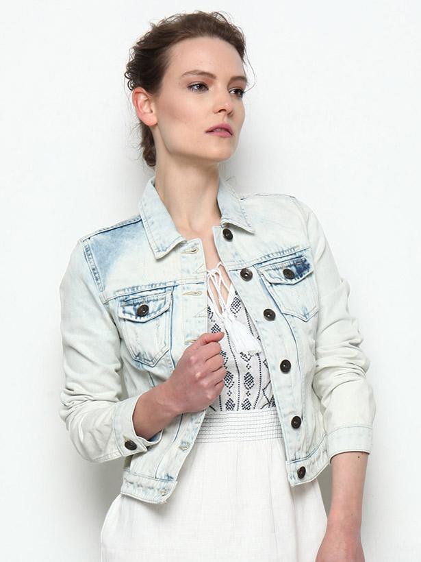 Mavi kısa kot ceket