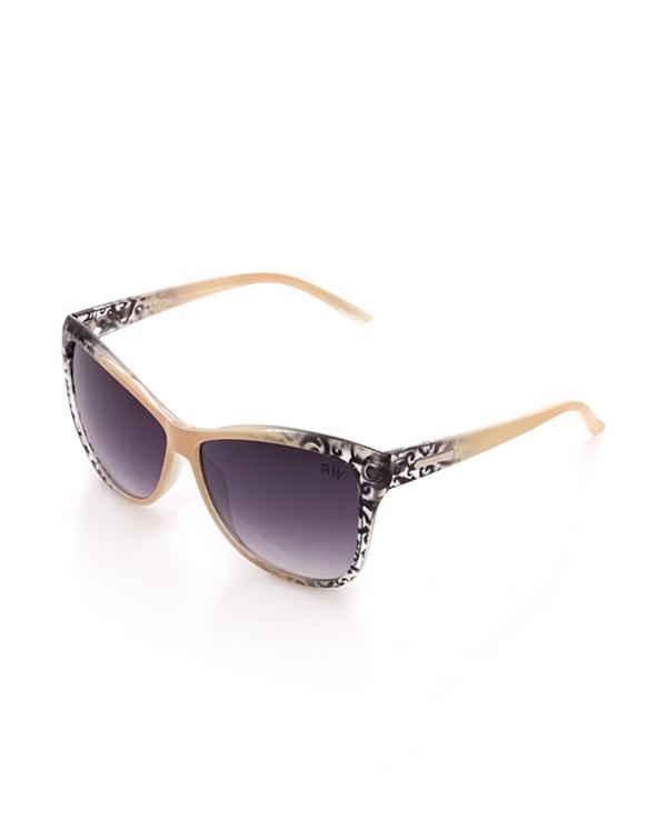 Siyah işleme detaylı güneş gözlüğü