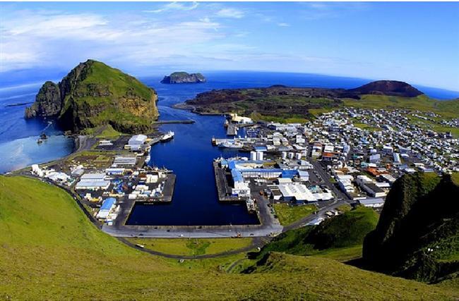 Vestmannaeyjar, İzlanda  Hala aktif bir volkan dağının eteklerinde bulunan kasabanın sınırlarında hala sınıflandırılmamış 150 bitki çeşidi ve milyonlarca kuş cinsi vardır.