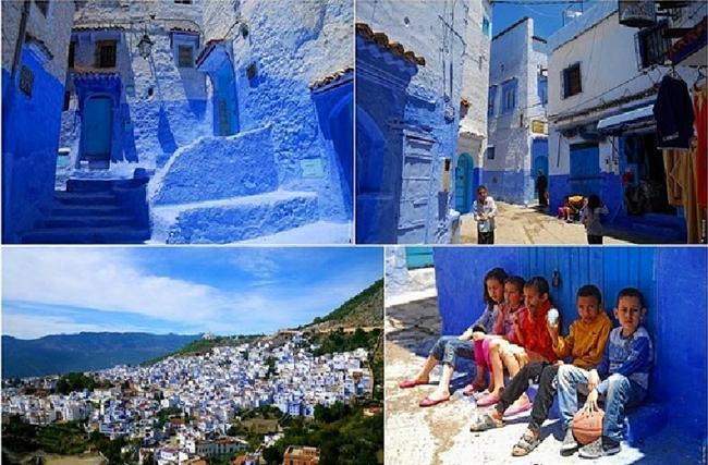 Chefchaouen, Fas  Maviye boyanmış evleri olan bu kasabayı zaten bir çoğunuz biliyordur.