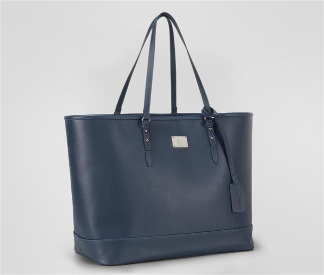 Mavi omuz çantası