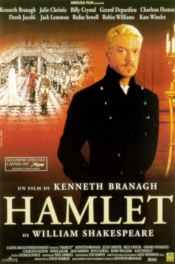 Hamlet (1996)  Hamlet, Kral babasının ölümünden sonra Danimarka'ya döner. Annesi Gertrude çoktan Hamlet'in amcası ve yeni kral olan Claudius ile evlenmiştir. Hamlet'in Ophelia ile evlenmesi için baskı yaparlar. Fakat bir gün babasının hayaleti ortaya çıkar ve Hamlet'e kendisini öldürenlerin Claudius ve Gertrude olduğunu söyler.Bunun üzerine Hamlet intikam almaya yemin eder ve amcasına çetrefilli bir tuzak kurar.