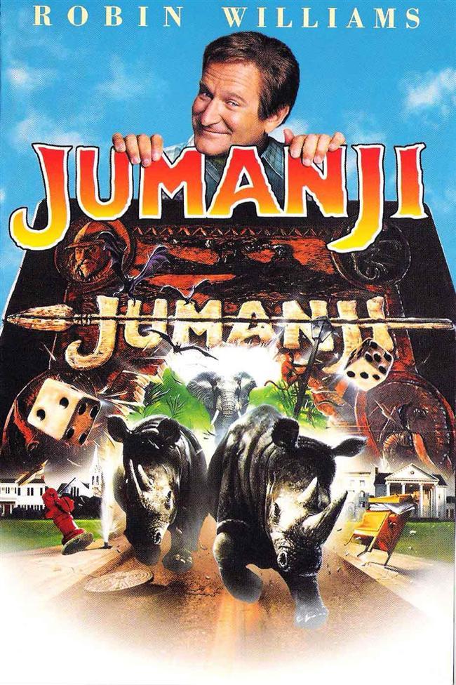 Jumanji (1995)  25 yıl boyunca bir oyunun içinde tıkılı kalan Alan Parris (Robin Williams), iki çocuğun oyunu yeniden oynamasıyla gerçek hayata geri dönüyor. Ancak onunla birlikte egzotik ve vahşi hayvanlar da gerçek hayata geliyorlar. Alan, şehri kurtarmak zorundadır, bunun için de oyunu en son onunla oynayan eski arkadaşı Judy'nin (Kirsten Dunst) yardımına ihtiyacı vardır.