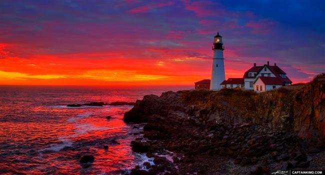 Portland Deniz Feneri, Maine, ABD