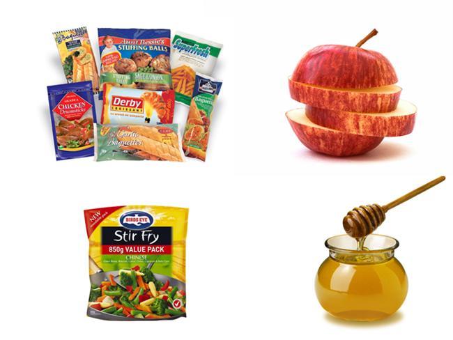Donmuş gıdalar : Açılmadan 12 - 18 ay arası.  Donmuş sebzeler : Açılmadan 18 - 24 ay arası. Açıldıktan sonra 1 ay.  Bal : Süresiz raf ömrü.  Elma ya da kızılcık suyu : Açılmadan üretim tarihinden itibaren 8 ay, açıldıktan sonra 7-10 gün.