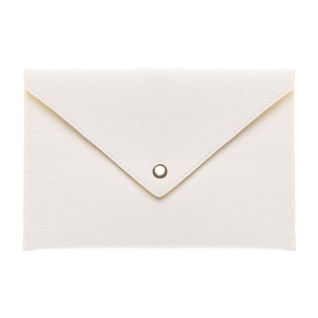 Beyaz zarf clutch çanta