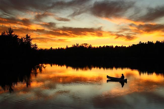 Günbatımı, Boundary Waters Canoe Area Wilderness, Minnesota