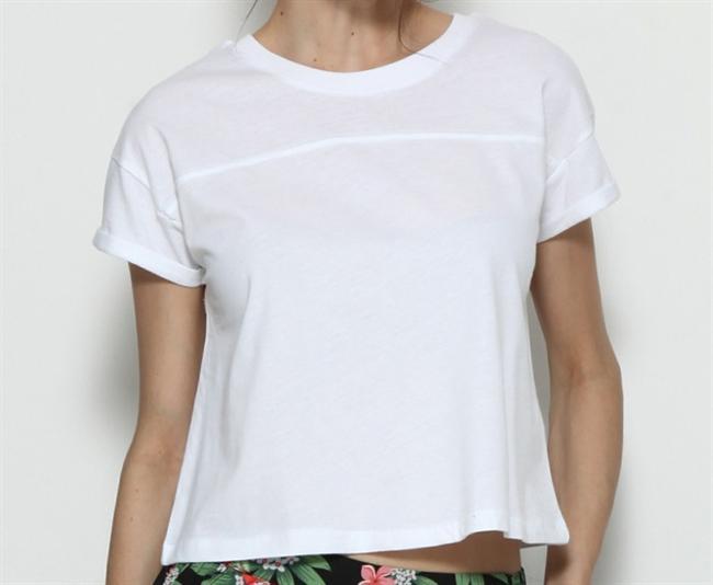 Yuvarlak Yaka Beyaz Tişört