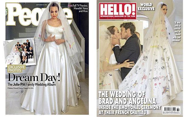 Brad Pitt ile Angelina Jolie altı çocuktan sonra evlendi.
