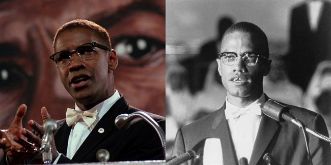 Denzel Washington  Malcolm X filminde Malcolm X karakterinde.