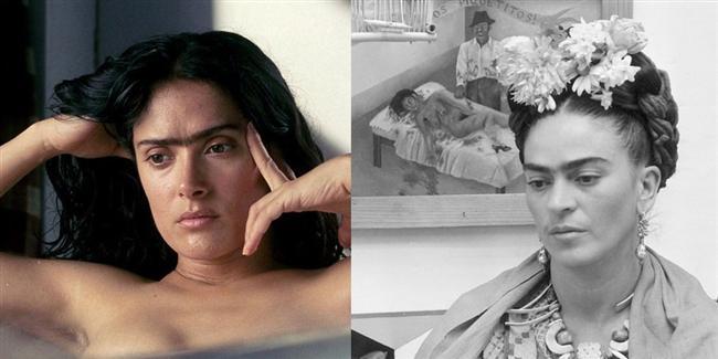 Salma Hayek  Frida filminde Frida Kahlo karakterinde.
