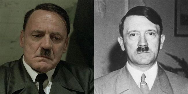 Bruno Ganz  Downfall filminde Adolf Hitler karakterinde.