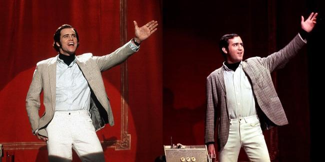 Jim Carrey  Ay'daki Adam filminde Andy Kaufman karakterinde.