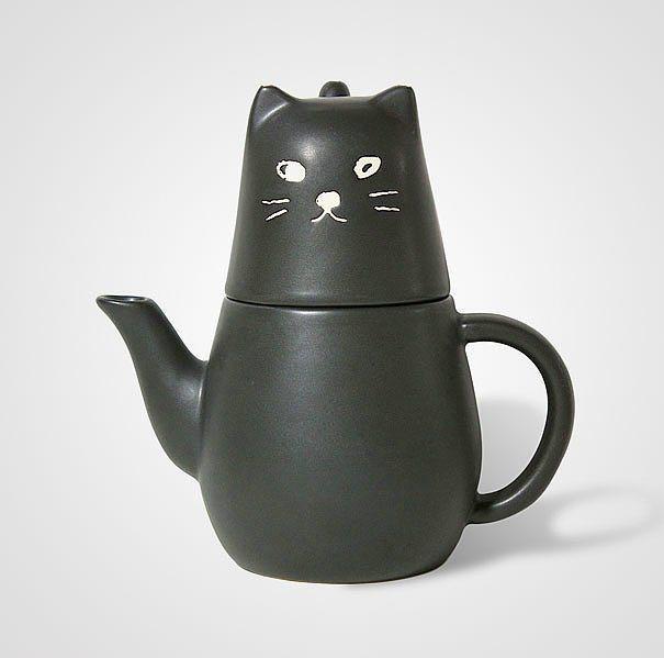 Kedi çaydanlık
