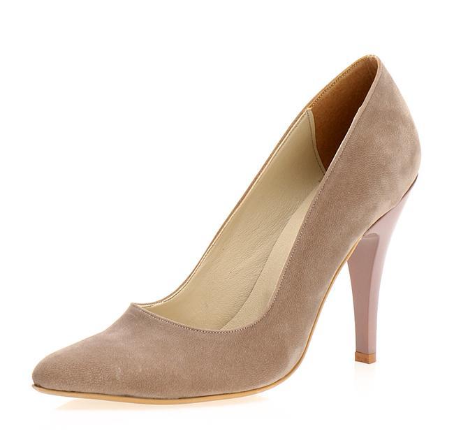 Vizon klasik topuklu ayakkabı