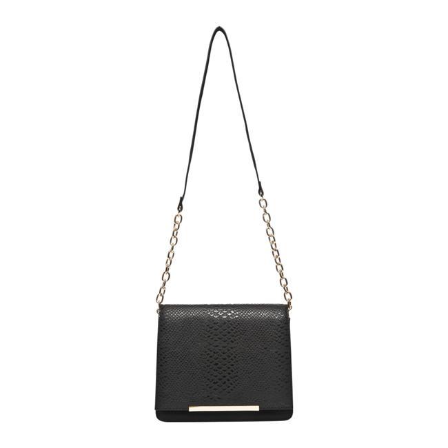 Zincirli siyah çanta