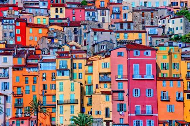 15. Menton Provence Köyü, Provence-Alpes Cote d'Azur, Fransa