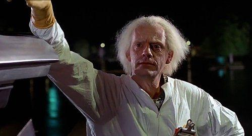 Dr. Emmett Brown  Geleceğe Dönüş / Back to the Future (1985) Canlandıran: Christopher Lloyd