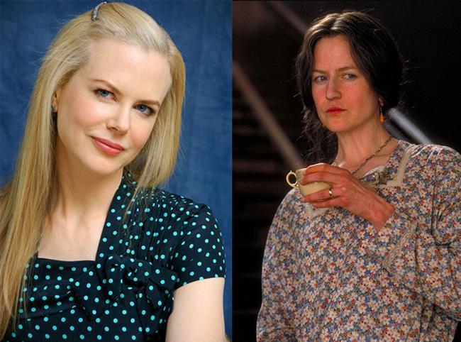 Nicole Kidman - Saatler / The Hours (2002)  Nicole Kidman, adeta bambaşka bir yüze sahip olduğu filmde Virginia Woolf karakteriyle En İyi Kadın Oyuncu Oscar'ını kazanmıştı.