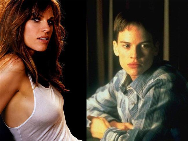 Hilary Swank - Erkekler Ağlamaz / Boys Don't Cry (1999)  Hilary Swank, Brandon Teena adındaki trans bir bireyi canlandırdığı harika performansıyla En İyi Kadın Oyuncu Oscar'ını kazanmıştı.