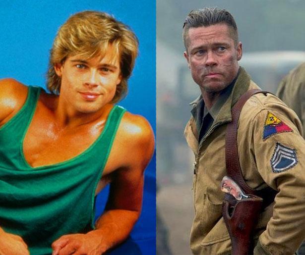 Brad Pitt 1987 yapımı Less Than Zero adlı filmde 24 yaşındaydı. Son filmi Fury'de ise 51 yaşında.