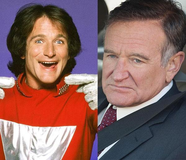 Robin Williams 1978'de Mork & Mindy'de yer aldığında 27'sindeydi. Hayata veda etmeden önceki son filmi Asabi Adam'da 63 yaşındaydı.