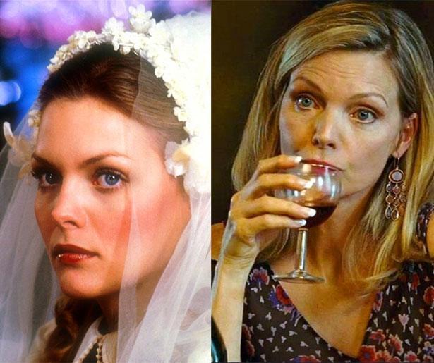 Michelle Pfeiffer, 1980 yapımı Falling in Love Again filminde 23 yaşındaydı. Son filmi The Family'de 56 yaşında.