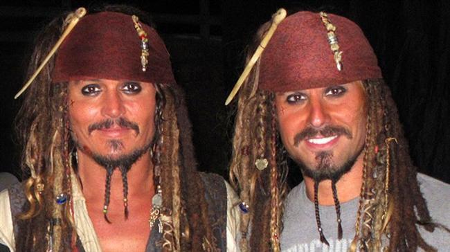4. Jonny Deep ve İkiz Dublörü Christopher Leps (Pirates of the Caribbean)