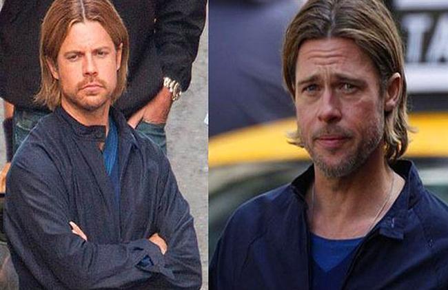 1. Brad Pitt ve İkiz Dublörü Domonkos Pardanyi (World War Z)