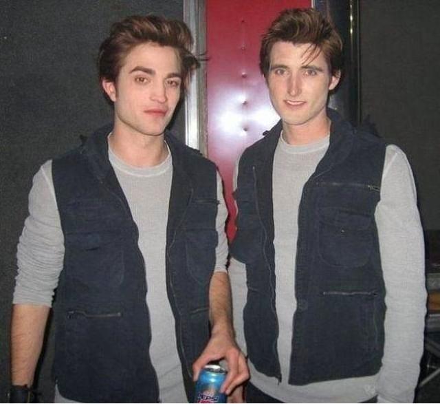 6. Rob Pattinson ve İkiz Dublörü Paul Darnell (Twilight)