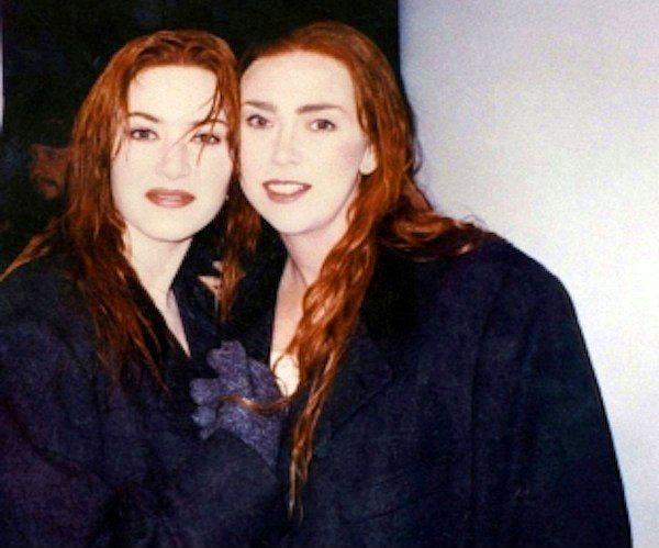 20. Kate Winslet ve İkiz Dublörü Sarah Franzl (Titanic)